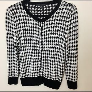 Houndstooth Cardigan Size S
